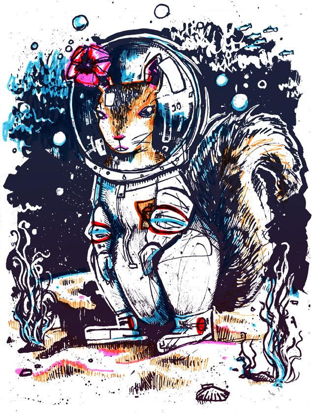 Squirrel Suit Squirrel in a Diving Suit